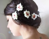 flower hair clip set 'JUPITER' bridal accessory