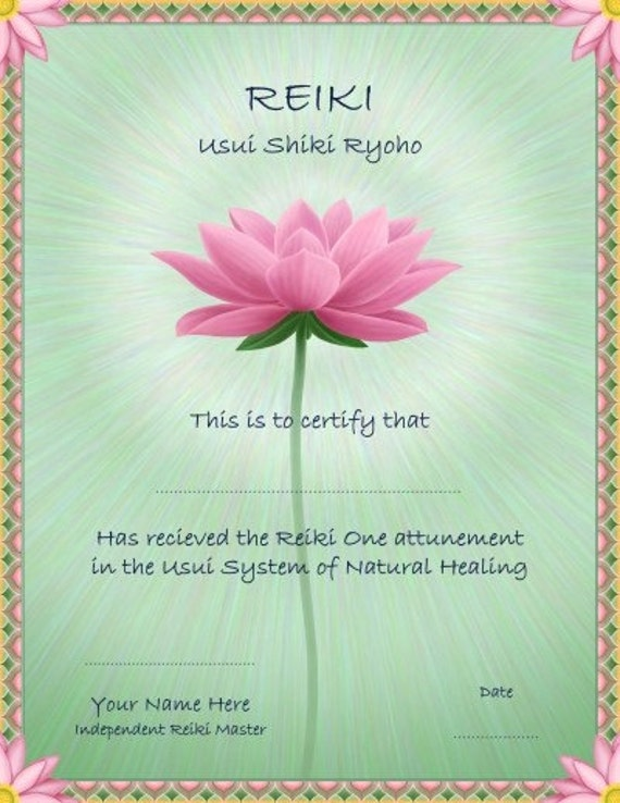 pin reiki certificate printable - photo #26