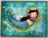 Whimsy Mermaid - Fine Art Print - willowing