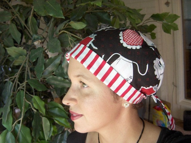 Scrub Hat and Chemo Head Wrap PDF SEWING PATTERN Fully Adjustable Sewing Patterns Chemo Head Scarves