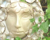 Goddess Ceramic Morning Glory Goddess Floral Face Planter For The Home or Garden, Floral Garden Goddess, Unique Handcrafted Pottery