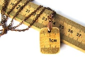 Ruler Pendant Necklace Wood Vintage Meter Stick By Hendywood - Hendywood