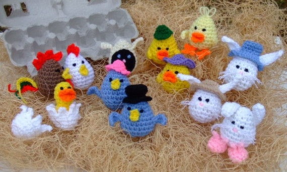 Crochet Pattern Easter Eggheads