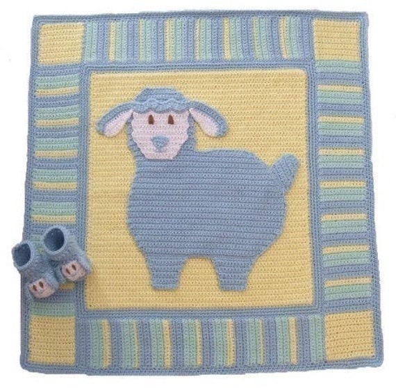 Crochet Pattern Lullaby Lamb Baby Blanket