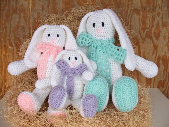 Crochet Pattern Floppy Ear Easter Bunnies