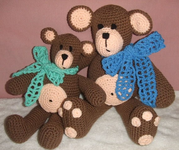 Crochet Pattern The Two Bears