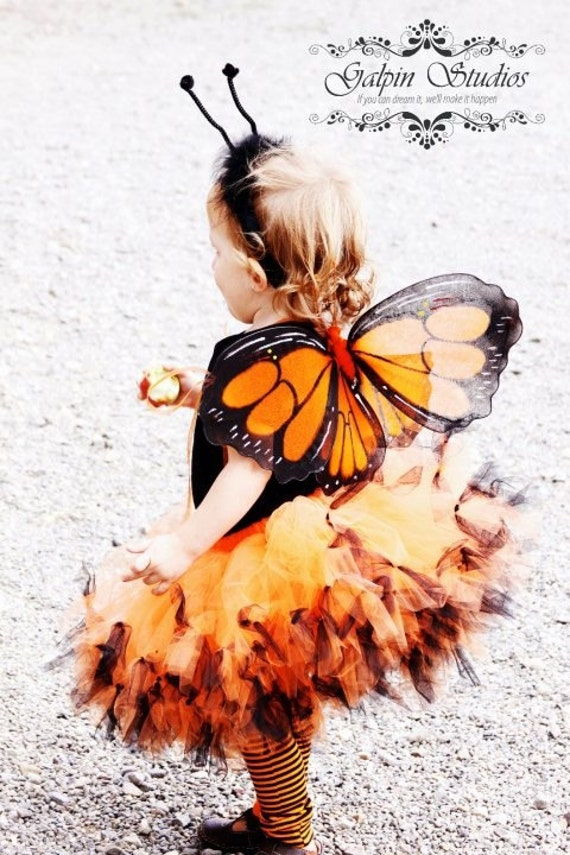 Orange and Black  Girls Tutu Guru Petti Tutu- Toddler 2T to Girls 8
