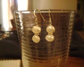 Earrings White Pearl  Bridal Bliss Wedding Earrings