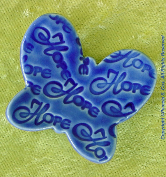 Butterfly Trinket Dish Hope in Blue