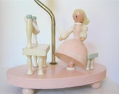 Rare Vintage Wooden Irmi Girl at Dressing Table Lamp - sweetlilystudio