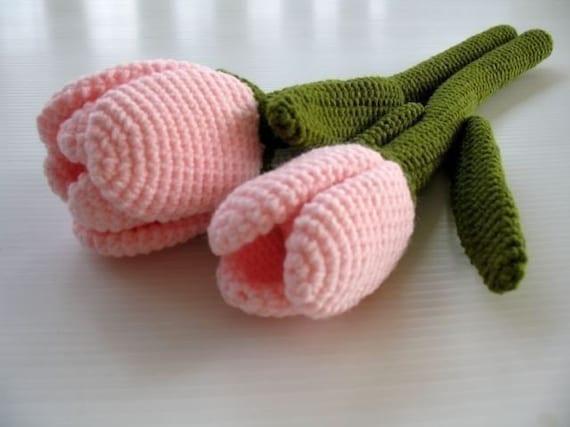 Crochet Pattern - TULIP FLOWER - Toys - PDF