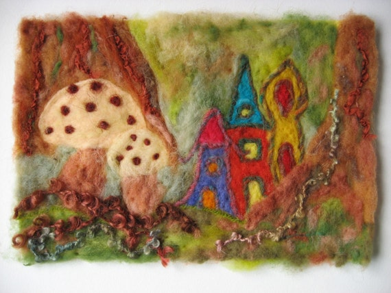 Felted Picture - Fairyland
