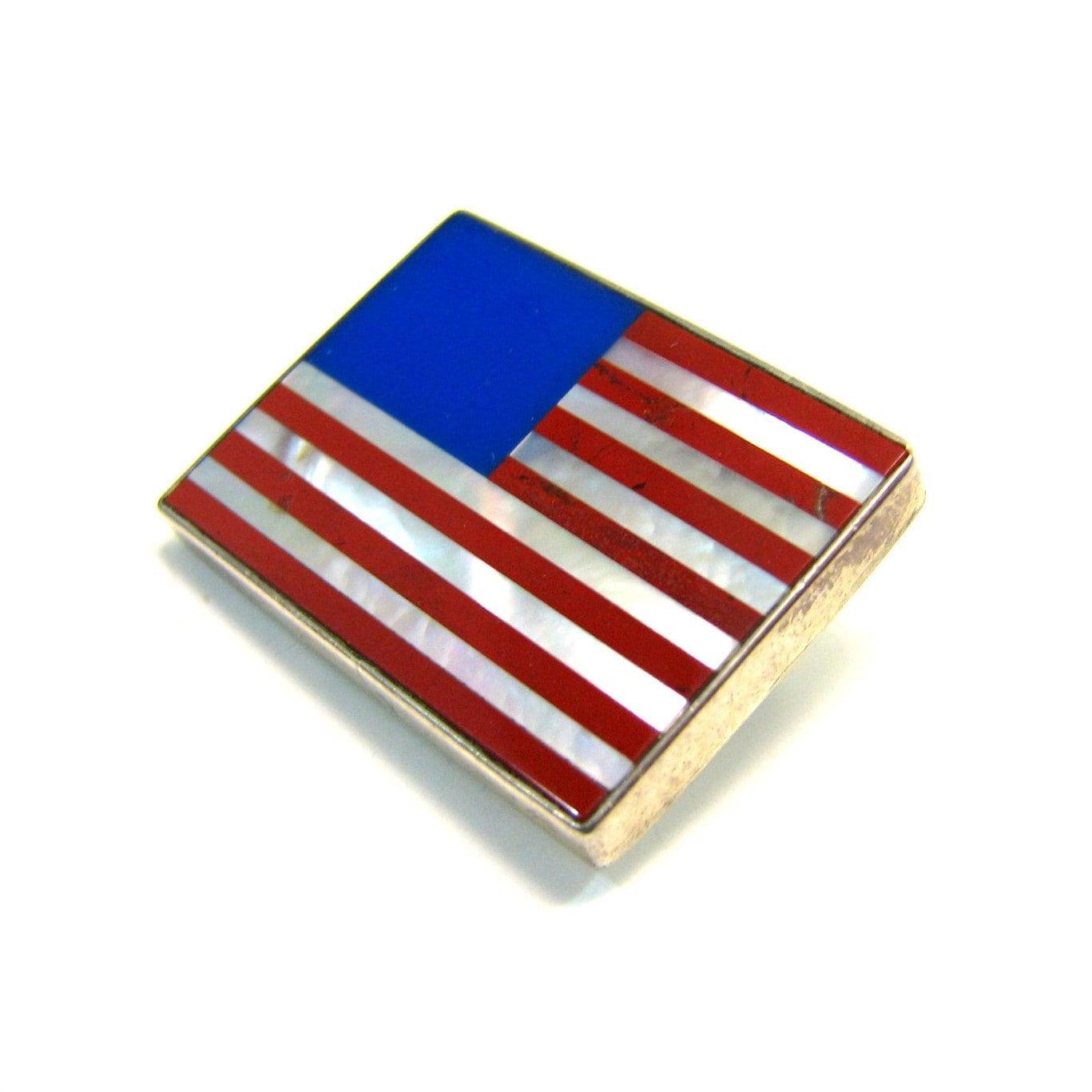 vintage american flag brooch