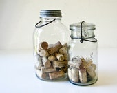 Vintage Glass Jars - 1 with Zinc Lid -  1 With Glass Lid -Ball Mason and Duraglass Bottles - BeeJayKay