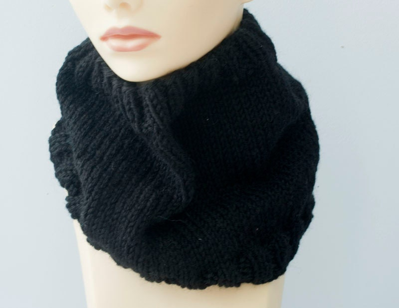 Hand Knit Cowl Scarf Neck Warmer Men Women Unisex by beadedwire Cowl Neck Scarves Men