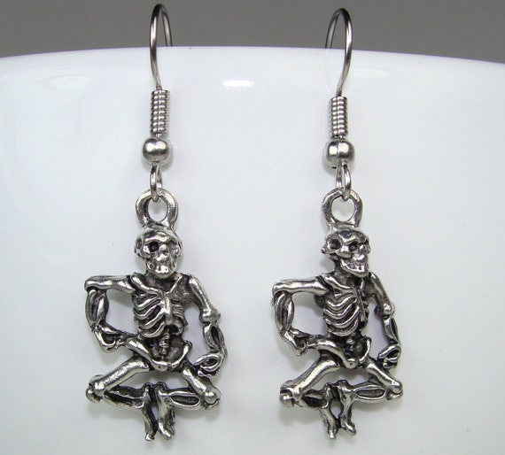 Skeleton Charm Earrings