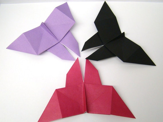 Origami Butterflies - Solid Color Butterflies - Set of 10