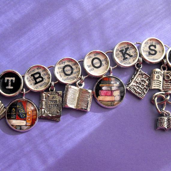 Got Books Book Charm Bracelet Literary Themed Bookish Jewelry