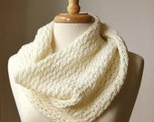 Infinity Scarf KNITTING PATTERN. Circular scarf snood. Bridget Cowl. PDF Electronic Delivery. - AtelierTPK