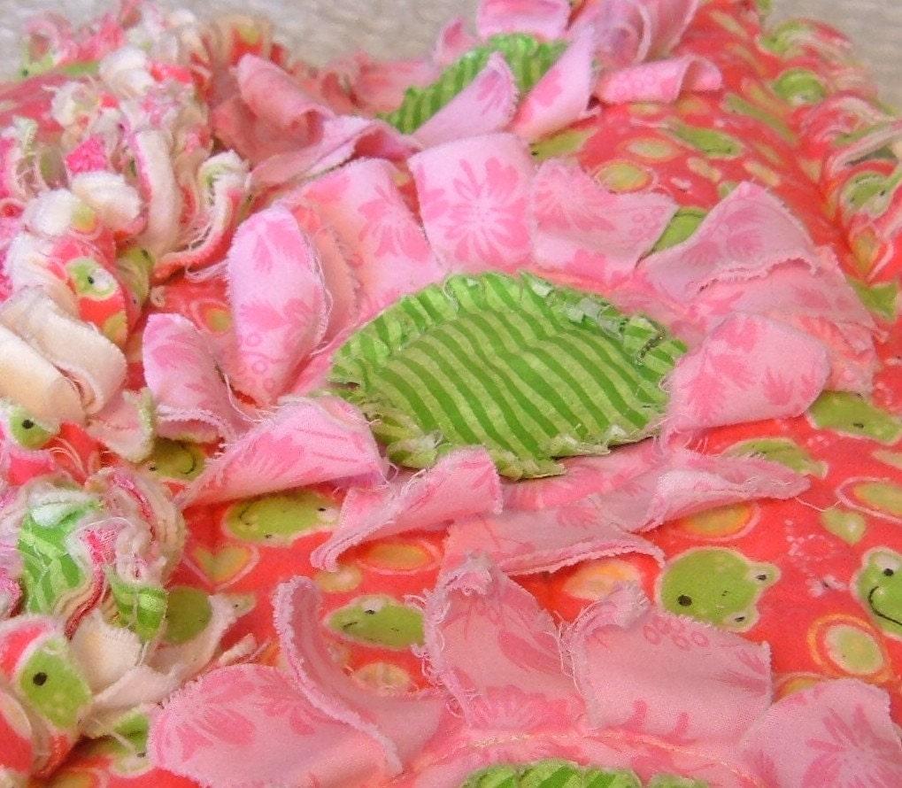 Rag quilt daisies