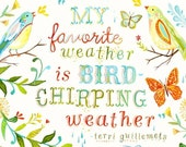 Bird Chirping Weather - thewheatfield