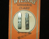 1920s NOS Wilsnap Lingerie Clasp with etched design. Set of 2. Silver Tone - FlanneryCrane
