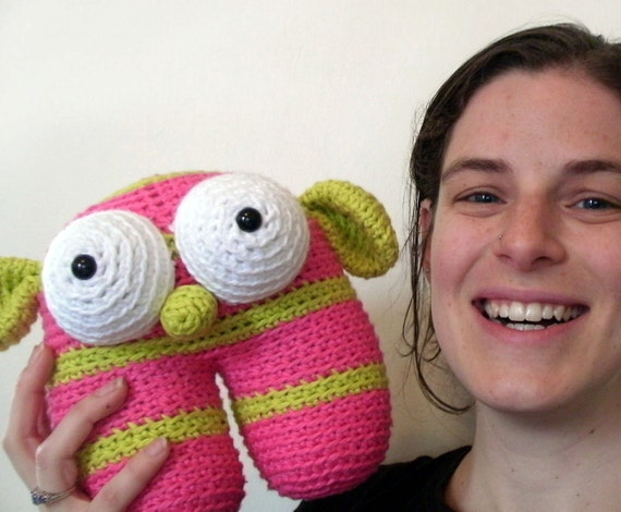 Crochet PATTERN: amigurumi crochet Monster -pdf-