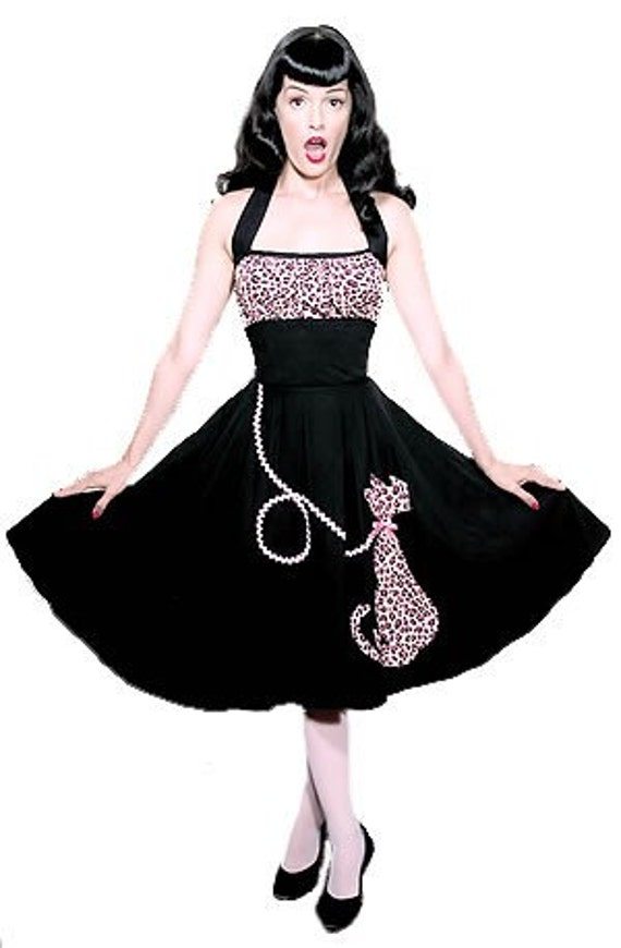 Purrrrfectly Pink Kitty-Cat Halter Dress... Meeeowww
