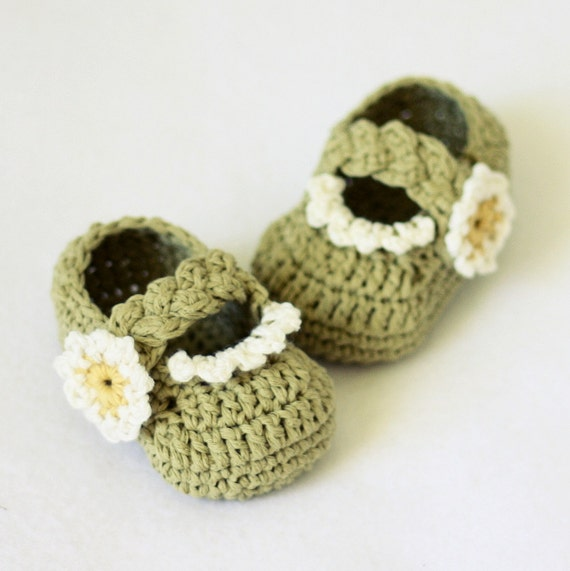 Crochet PATTERN for baby booties (pdf file) - Daisy ...