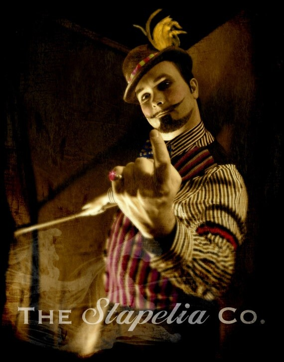 Macabit Sideshow Barker Art Photo Print Circus Set