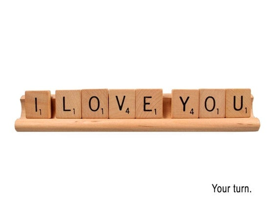 Scrabble Love Card - Your turn