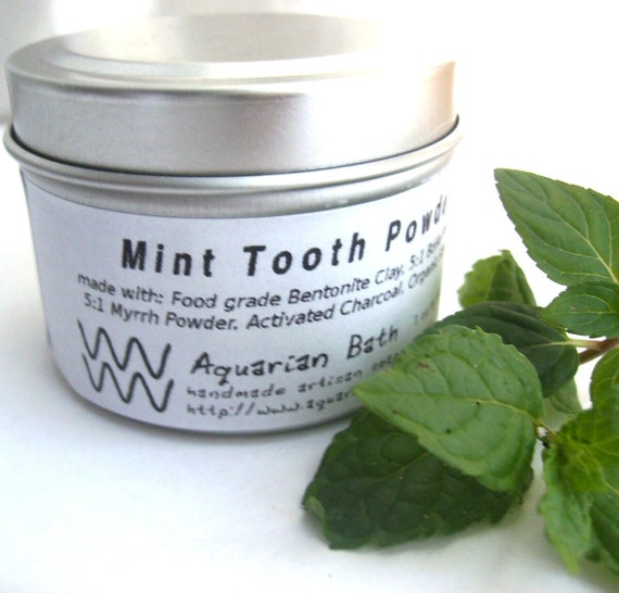 Mint Tooth Powder REFILL Only No Tin- A Natural Toothpaste Alternative - Plastic Free - Ecofriendly