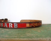 Tooled Leather Belt / Cowgirl Barb / Western Belt / 32 - SmallEarthVintage