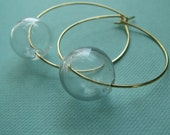 VERA-Hollow Glass Bubble Hoop Earrings - BlondeChick