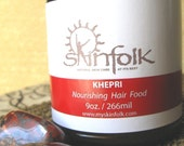 Khepri...god of the rising sun...Nourishing Hair Food... Transform Split Ends, Itchy Dry Scalp and Chemical Damage- 9oz glass jar