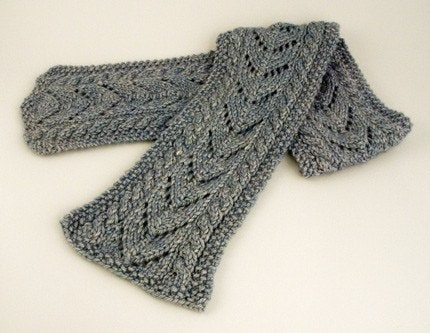Free Crochet Pattern Aran Sampler Scarf with Twisted Fringe
