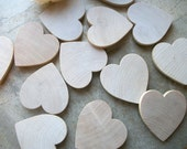 12 Wooden Heart Magnets -  Maple Wood  2 5/8 inch - for Weddings, Showers, Save The Date Magnets or Place Card Holders