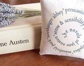 Jane Austen's Novels-Spiral Design Miniature Hanging Pillow - annastrunk