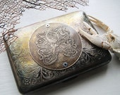 Octopus Brass Etched Wallet / Cigarette Case in Steampunk Victorian  -- Acid Bath Series - janeeroberti