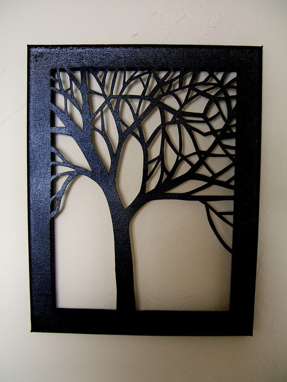 Tree Silhouette Cut Canvas - 11x14 Made to Order