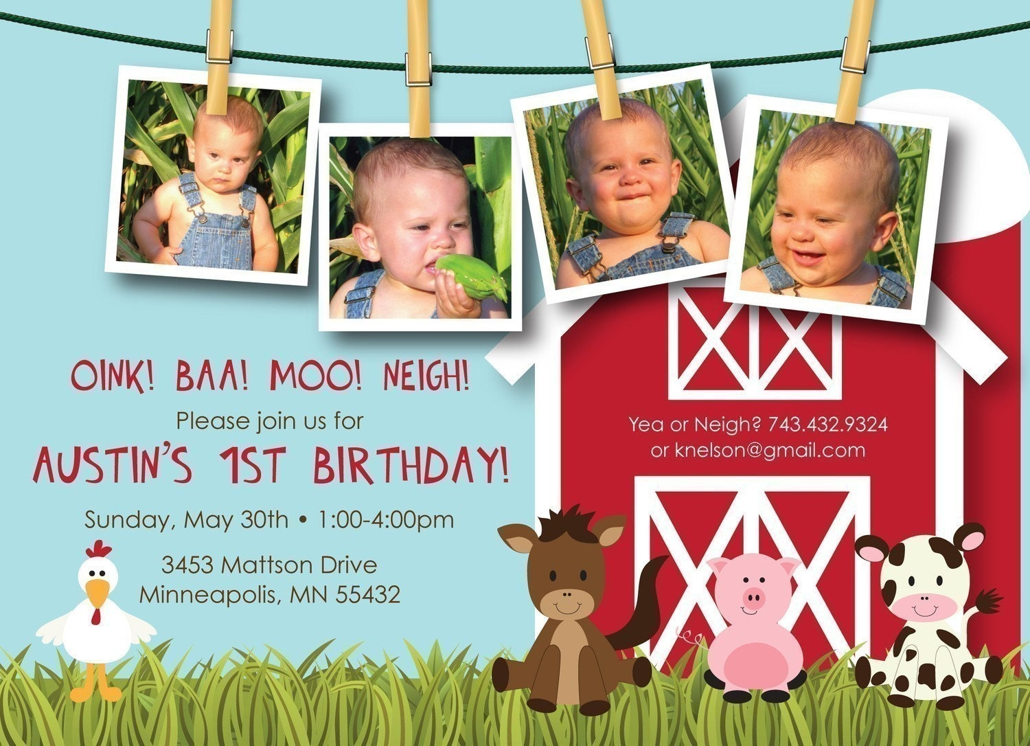 17 Best images about Jax's 1st Birthday- Farm Barn Theme on ...
