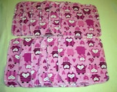 Pink Owls Baby Wipes