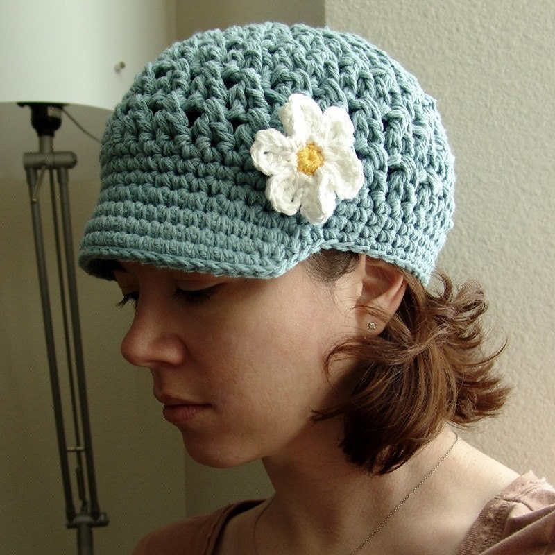 Free Crochet Pattern Slouchy Hat With Brim : Crochet Brim Beanie Pattern Patterns Gallery