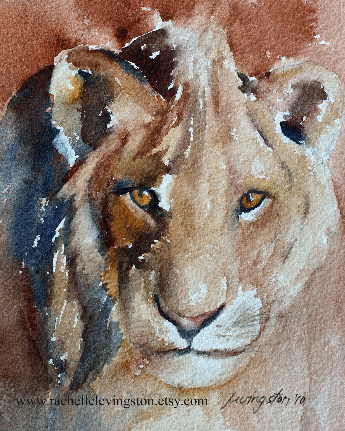 zoo art boy room art Painting of Lion / lion by rachellelevingston