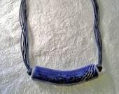 Blue Raku Necklace