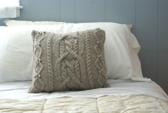 Cable Knit Pillow Sham
