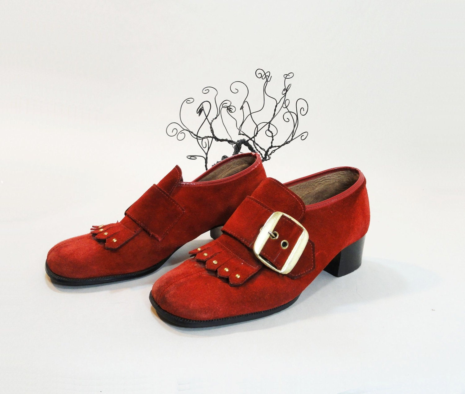 70s Vintage Shoes Red 1970s Pilgrim 9 Picture