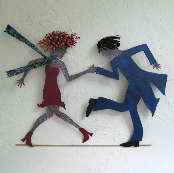 Flapper Dancers - Tina and Cecil Metal Wall Sculpture
