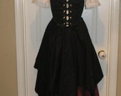 Lovely Romatic Renaissance Women Wench Pirate Full Costume - Designsbylael