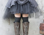 Rainy day... tutu in storm grey with teired tulle. Custom made for you in your choice of colours. - tahnaya